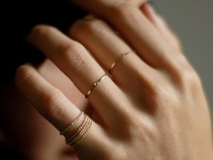 Thin Gold Stacked Rings